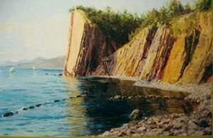 "Старинная картина ""Кадошские скалы"", А.А. Киселев"