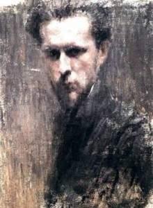 Мстислав Добужинский. Автопортрет, старинная картина. Антикварная живопись