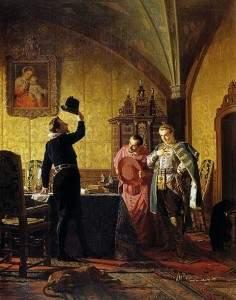 Присяга Лжедмитрия I польскому королю Сизигмунду III на введение в России католицизма