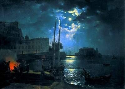 С. Щедрин. Неаполь в лунную ночь