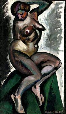 «Натурщица» Ильи Машкова (1912-1913), старинная картина
