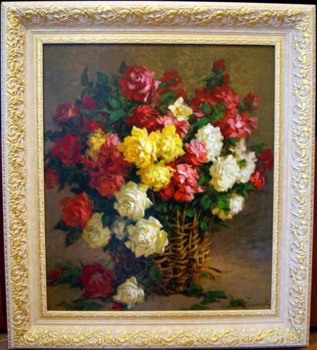 Любимые розы. Холст, масло; 70х80.