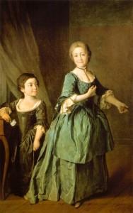 Парный портрет Ф. Ржевской и А. Давыдовой (1772)