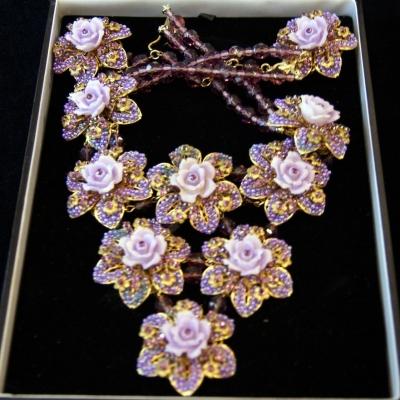 НЕТ В НАЛИЧИИ - лот №M000151 Гарнитур «Фиолетовые цветы»