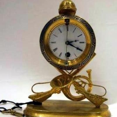 НЕТ В НАЛИЧИИ - лот №C000140 Часы с охотничьей атрибутикой