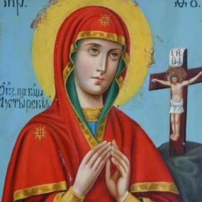 НЕТ В НАЛИЧИИ - лот №I000162 Икона Актырской Богородицы