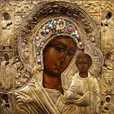 НЕТ В НАЛИЧИИ - лот №I000152 Казанская икона Божией Матери