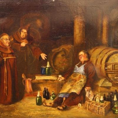 НЕТ В НАЛИЧИИ - лот №A000198 Монахи в винном погребе