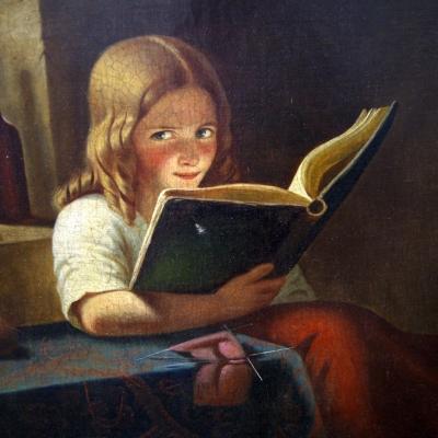 НЕТ В НАЛИЧИИ - лот №A000177 Девочка с книгой
