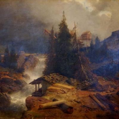 НЕТ В НАЛИЧИИ - лот №A000178 Река в ущелье