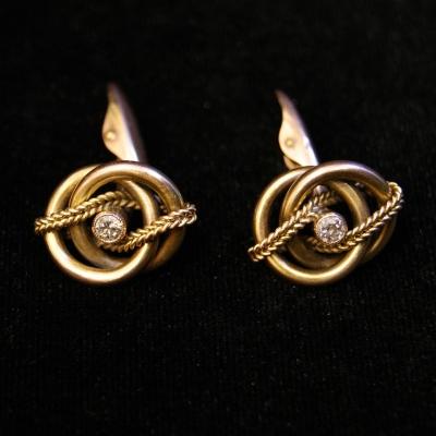 ПРОДАНO - лот №J000204 Запонки с бриллиантами