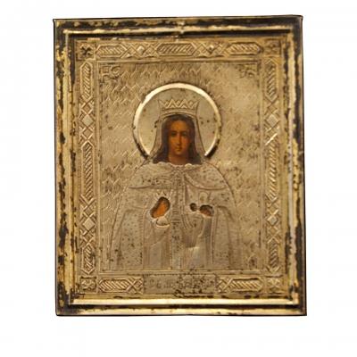 лот №I000211 Икона святой Варвары