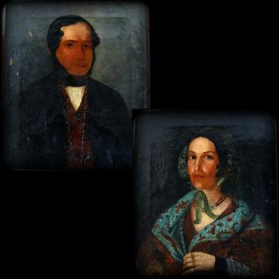 лот №A000278 Портреты парные