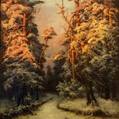 НЕТ В НАЛИЧИИ - лот №A000181 Зимний пейзаж