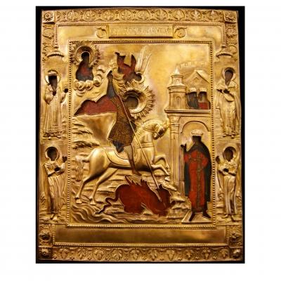 лот №I000154 Святой Великомученик Георгий Победоносец