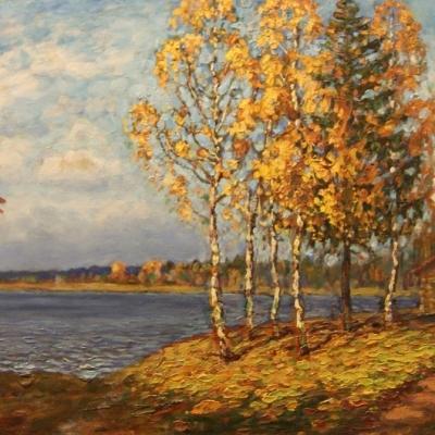 НЕТ В НАЛИЧИИ - лот №A000182 Осенний пейзаж