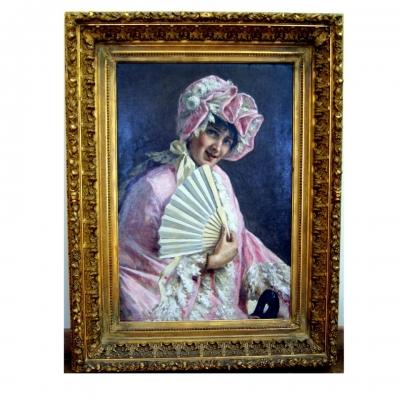 НЕТ В НАЛИЧИИ - лот №A000178 Розовое домино