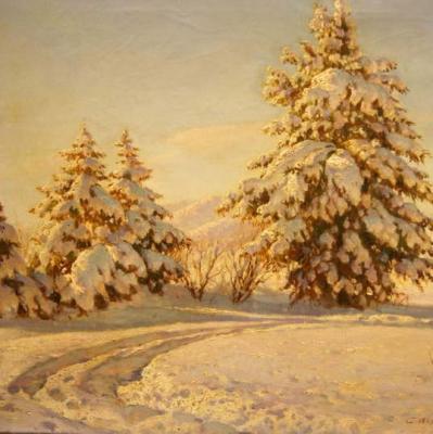 НЕТ В НАЛИЧИИ - лот №A000226 Зимний пейзаж