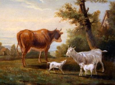 НЕТ В НАЛИЧИИ - лот №A000154 Пейзаж с коровами