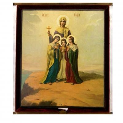 лот №I000141 Святые Вера, Надежда, Любовь и матерь их София