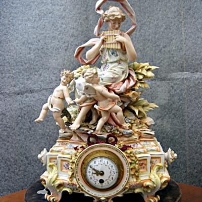 НЕТ В НАЛИЧИИ - лот №C000152 Часы фарфоровые