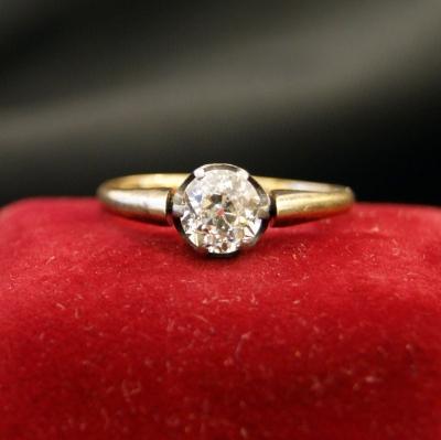 НЕТ В НАЛИЧИИ - лот №J000288 Кольцо с бриллиантом