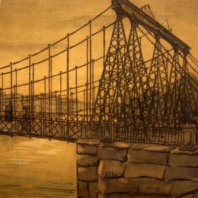 """НЕТ В НАЛИЧИИ - лот №A000270 """"Цепной мост"""""""