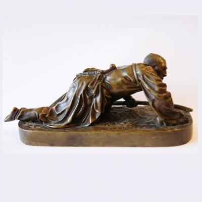 лот №B000213 Скульптура «Черкес в засаде»