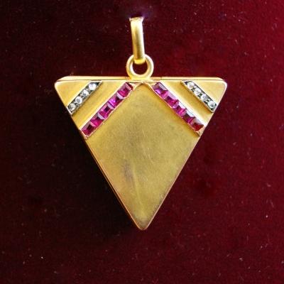 """НЕТ В НАЛИЧИИ - лот №J000221 Медальон """"Треугольник"""""""
