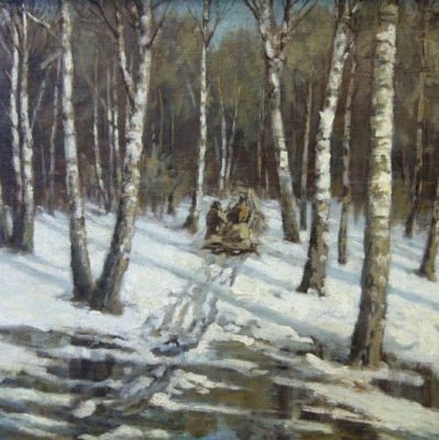 НЕТ В НАЛИЧИИ - лот №A000239 Зимний пейзаж