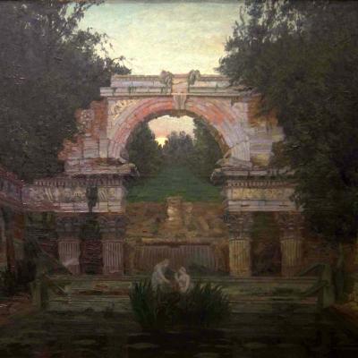 НЕТ В НАЛИЧИИ - лот №A000218 Ночной пейзаж с руиной
