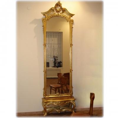 лот №F000148 Зеркало и столешница