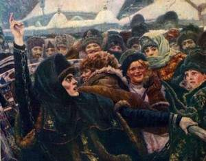 Боярыня Морозова. 1887. Фрагмент