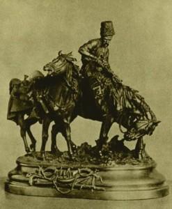Запорожец после битвы. 1873. Бронза